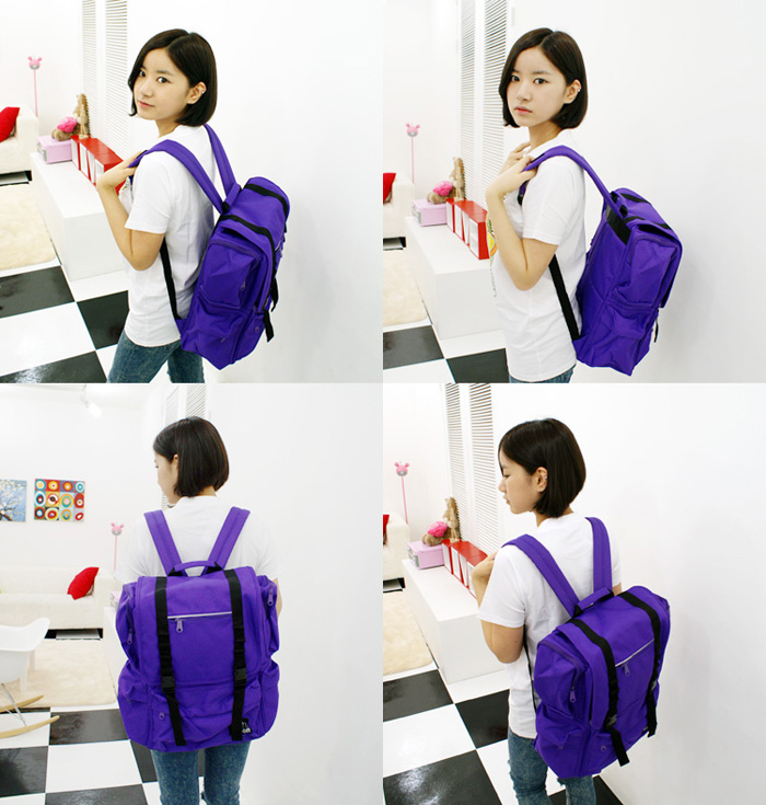 [ ARSON ] AB-0919 (Purple)/Backpack School Bag