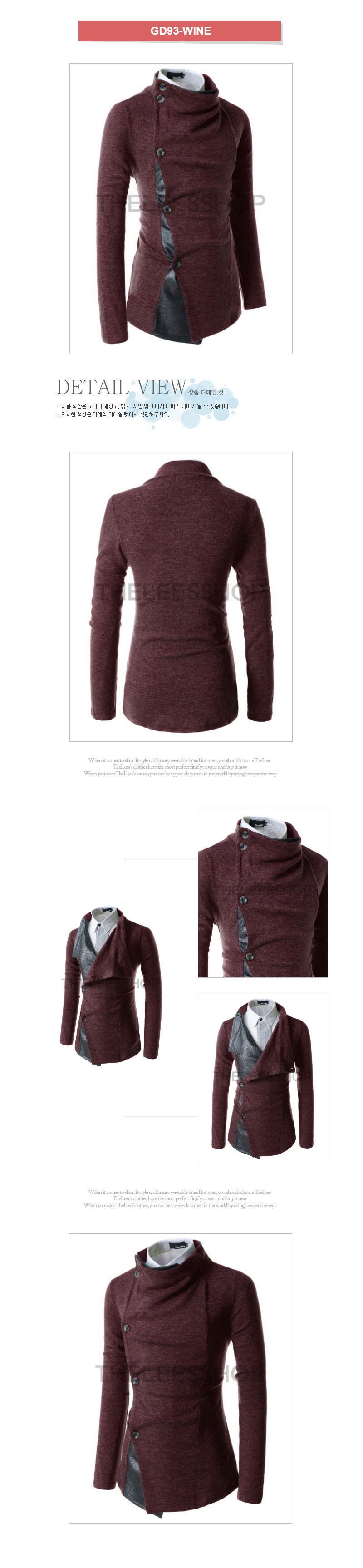 [ KOOLLOOK ] [ KoolLook ] Slim Fit 一键式开衫与金属详细信息 GD93
